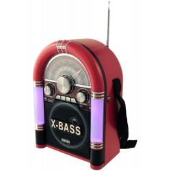 1T. Radio retro «JUKEBOX» multibanda MEIER M-U06 roja