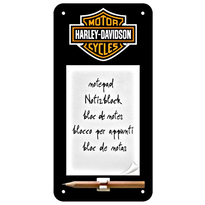 3t 171 Harley Davidson 187 Black Note Pad With Magnet Ciaf S L