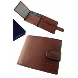 3T. Brown leather walllet with purse «Limus»