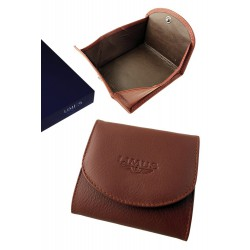 3T. Brown leather purse «Limus»