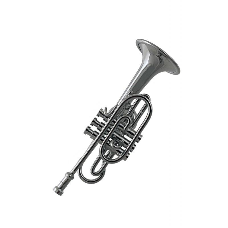 1t miniatura magn tica corneta en metal cromado ciaf for Metal cromado