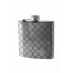 1T. 6 oz. Metallic flask «Square» pattern drawing