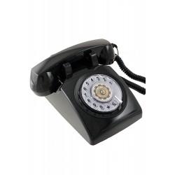 5T. Teléfono sobremesa «Classic» negro con dial giratorio