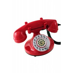 5T. Classic «Retro» telephone red with rotary dial