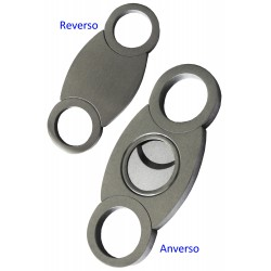 1T. Chromed cigar cutter with handles