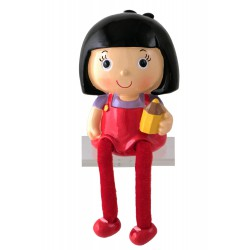 1T. Black hair girl money box