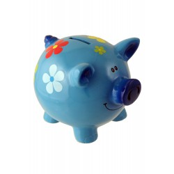 1T. Blue pig money box