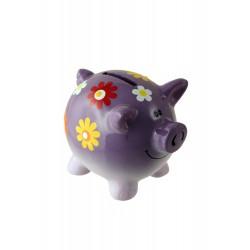 1T. Purple pig money box