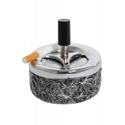 3T. Push ashtray 90mm metal leaves «Champ»