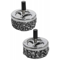 3T. Set of 2 skull Push ashtray 90mm «Champ»