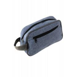 5T. Toilet-case with two zipper in denim