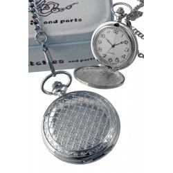1T. Reloj de colgar en brillo con decoración «Panal» con estuche metálico