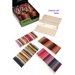 1T. Expositor con 12 bolsas «TG» para picadura surtidas con decoración textil