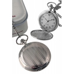 1T. Pocket hanging clock with spikes pattern. In metal case