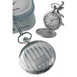 1T. Clock of hanging with decoration of bars and reservation to engraving. In metallic casing.