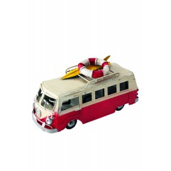 5T. Furgoneta decorativa roja «VW Hippie surf»