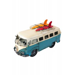 5T. Decorative metal van «VW Hippie surf» blue