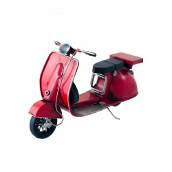 5T. Decorative motor bike red «Vespa» in aged metal.
