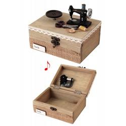 7cf653fb3b2f 1T. Caja de costura «Máquina de coser y botón» con música. Acabado