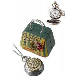 1T. Reloj de colgar de señora con estrella color crema