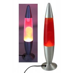 2T. Lámpara metálica de lava amarilla/roja