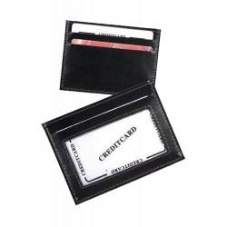 3T. Flat cardcase in black polyskin