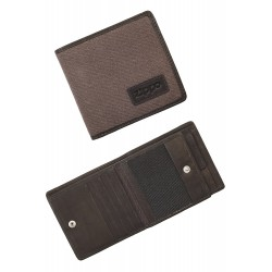 3T. Wallet with coin  «Zippo» Mocca/gris