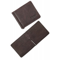 3T. Money clip card Wallet  «Zippo» Brown