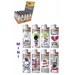 4T. Display with 50 lighters mini BIC  «PUNK» assorted