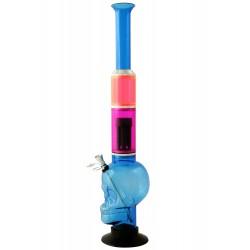 1T. 48 cm. Bong acrílico «Calavera» azul