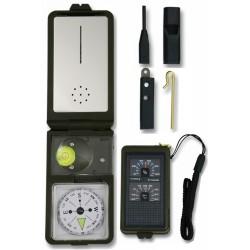 3T. Brujula «ALBAINOX» con accesorios de supervivencia