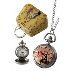1T. Reloj de colgar «París». En estuche metálico.
