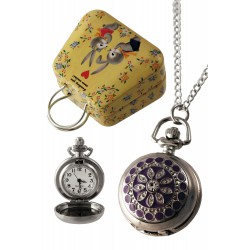1T. Clock of hanging purple «Star». In metallic case.