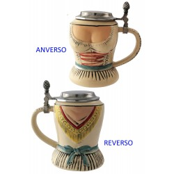 2T. Decorative ceramic mug beer 600 ml. «Waist»