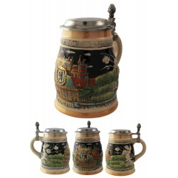 2T. Decorative ceramic mug beer 700 ml. «Berlin».