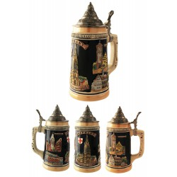 2T. Decorative ceramic mug beer 750 ml. «Germany».