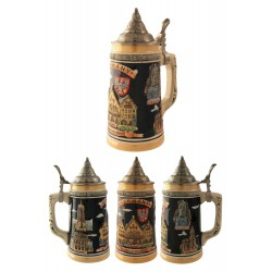 2T. Decorative ceramic mug beer 700 ml. «Germany-Frankfurt».