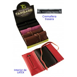 1T. Display «TG» 6 assorted colours fabric tobacco bags with latex inside