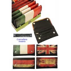 4T. Expositor con 12 bolsas acrílicas «TG» para picadura «Bandera1» surtidas. 4 modelos.