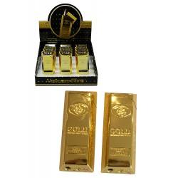 3T. Expositor con 12 encendedores piezo «V-Fire Goldbarren»