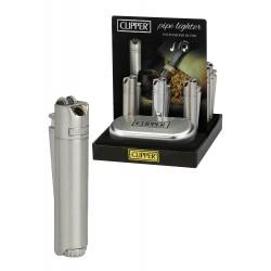 4T. Expositor con 12 encendedores de pipa «Clipper» PIPE LIGHTER con estuche de metal