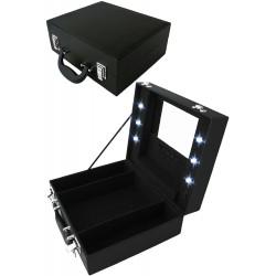 af7414196da9 1T. Maletín negro portable con luz para maquillaje