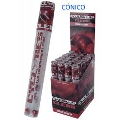 3T. Expositor con 24 conos preenrollados «Cyclone» sabor cereza