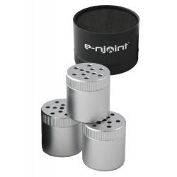 3T. «e-njoint» Estuche portacestas hermético en aluminio para picadura (con tres cestillas extra) «The Hero -Add on Stash 3»
