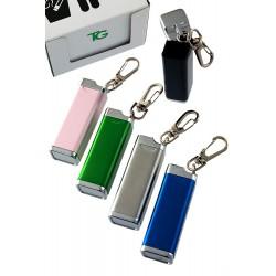 5T. Expositor con 10 ceniceros aluminio de bolsillo con llavero colores surtidos