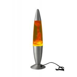 2T. 46,5 cm Lámpara metálica de lava naranja/amarilla