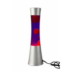 2T. 39.5 cm Metallic red/purple lava lamp