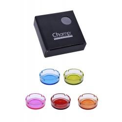 3T. Cenicero cristal 10,5 cm. «Champ» colores aleatorios