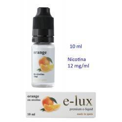 3T. e-liquid Orange 12 mg. envase con 10 ml. «e-lux»