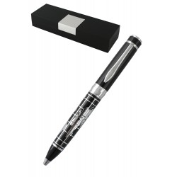 1T. Black world map pen. In original box.
